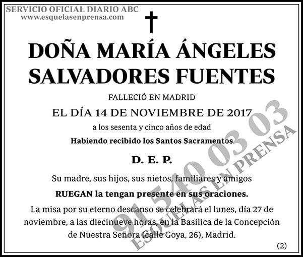 María Ángeles Salvadores Fuentes